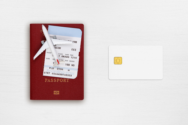 Passport, boarding pass